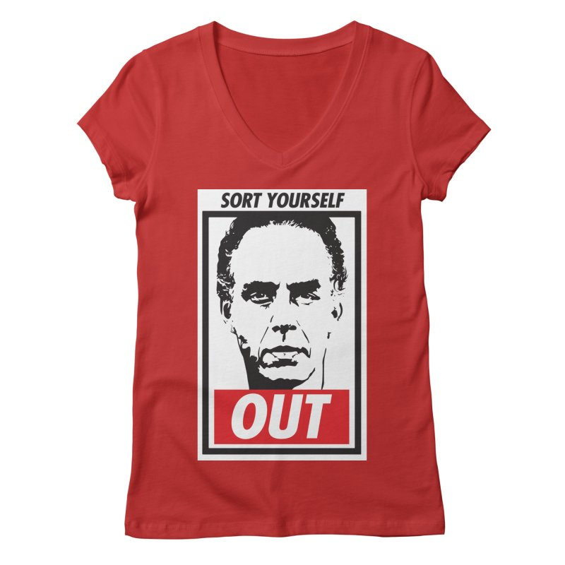 Sort Yourself Out Women's V-Neck by Shirts of Meaning