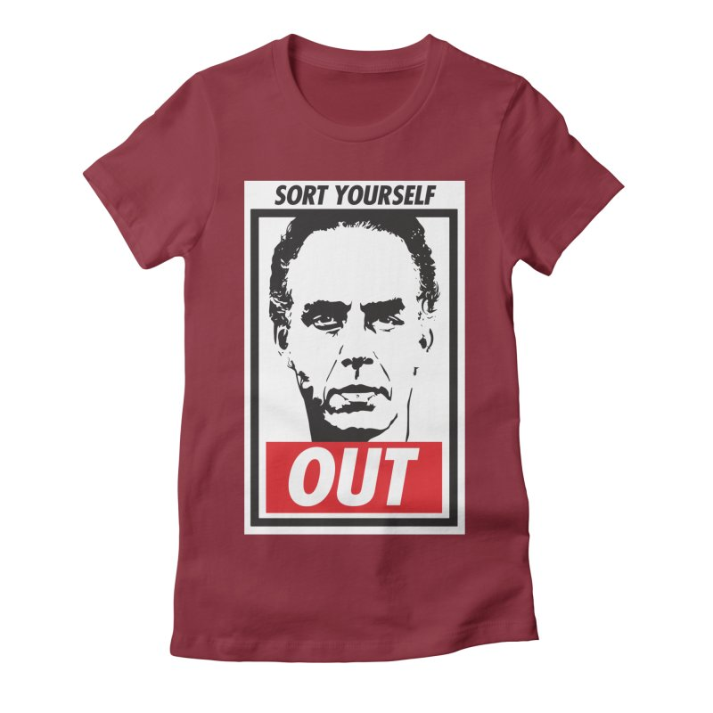 Sort Yourself Out Women's Fitted T-Shirt by Shirts of Meaning