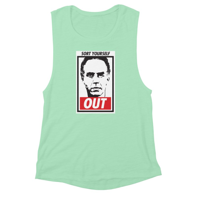 Sort Yourself Out Women's Muscle Tank by Shirts of Meaning