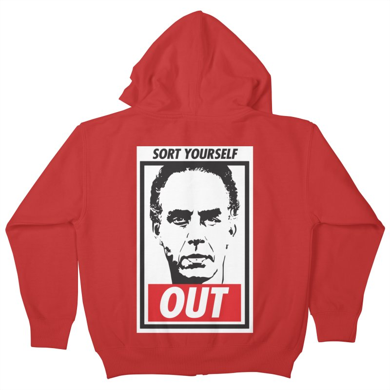 Sort Yourself Out Kids Zip-Up Hoody by Shirts of Meaning