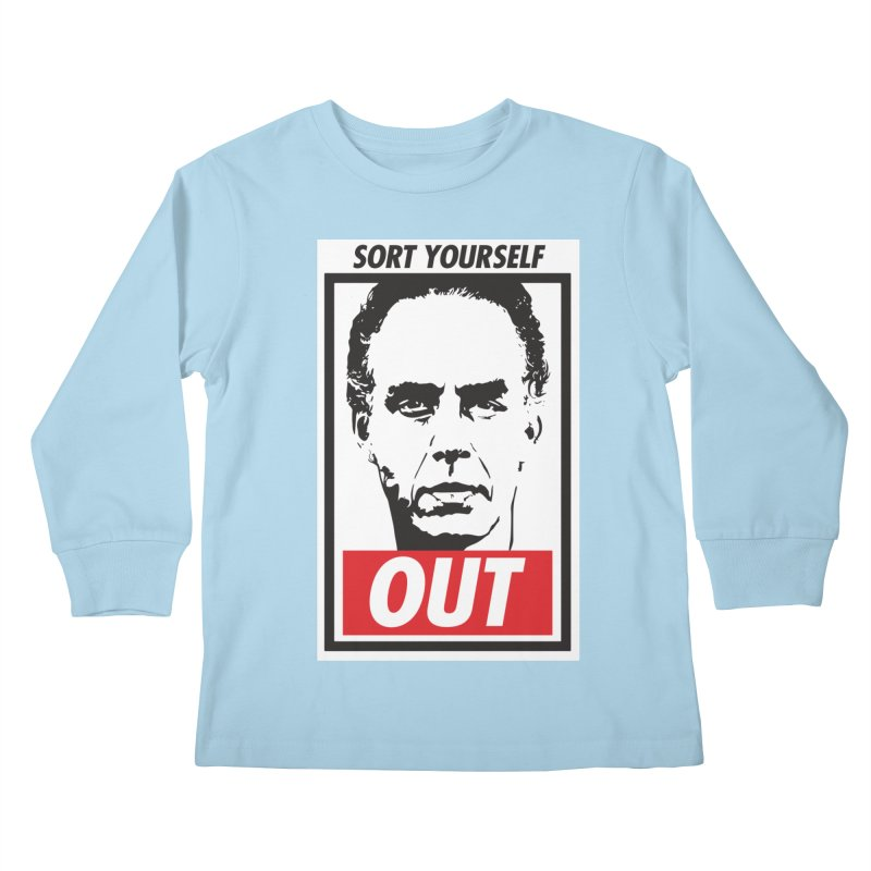 Sort Yourself Out Kids Longsleeve T-Shirt by Shirts of Meaning