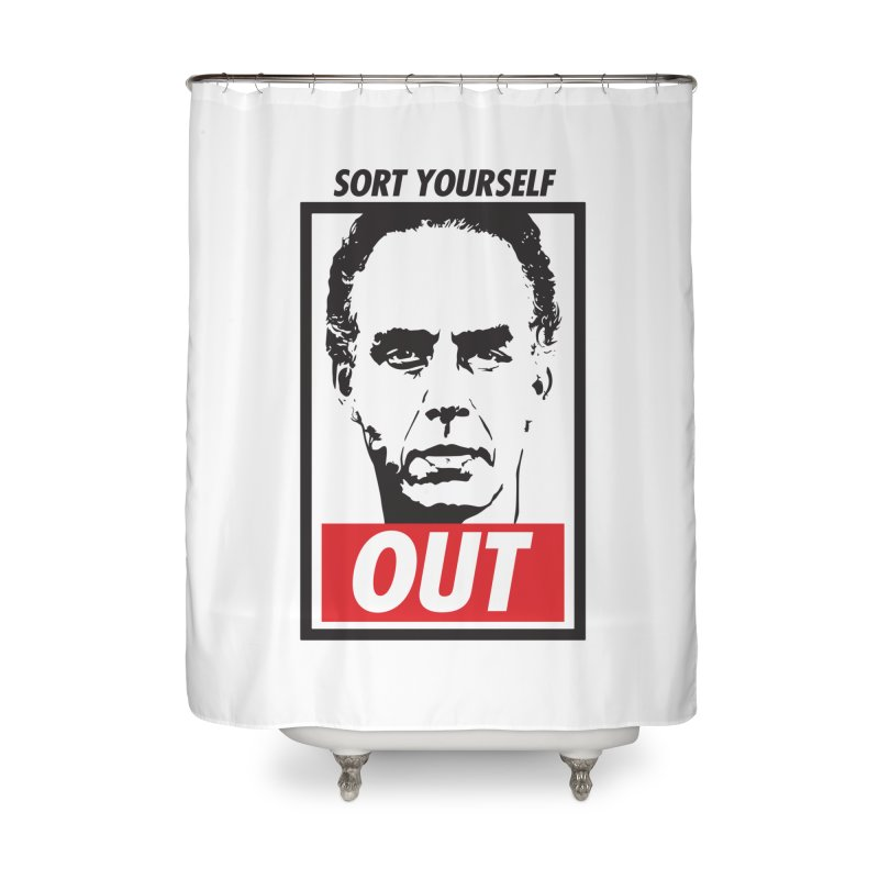 Sort Yourself Out Home Shower Curtain by Shirts of Meaning