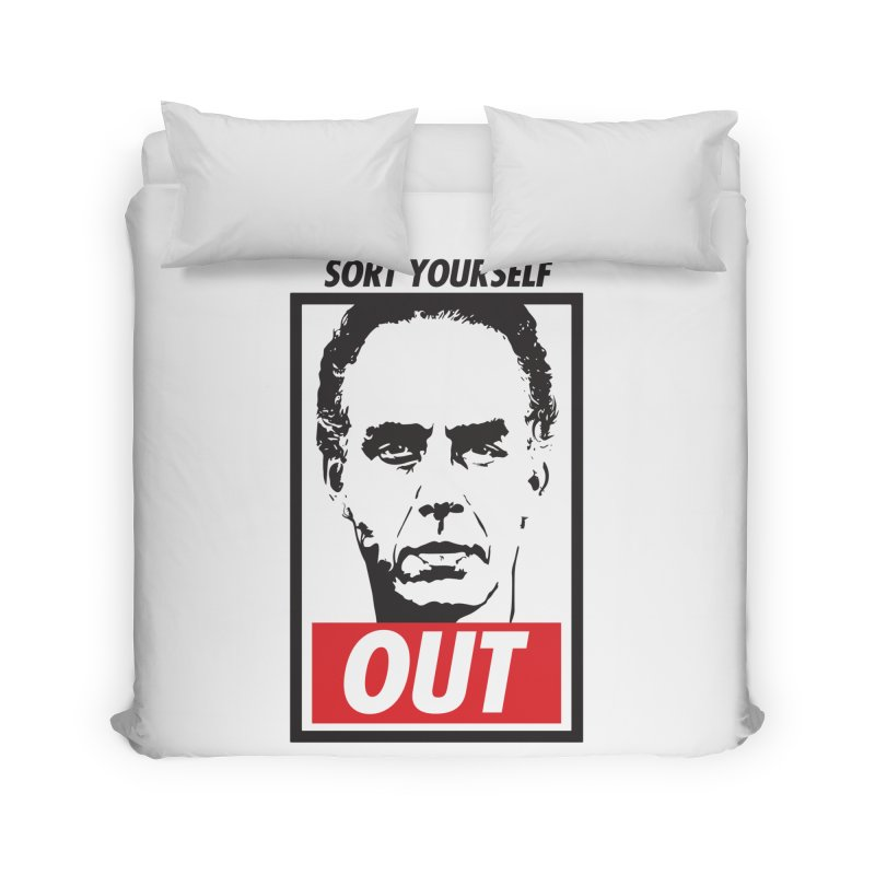 Sort Yourself Out Home Duvet by Shirts of Meaning
