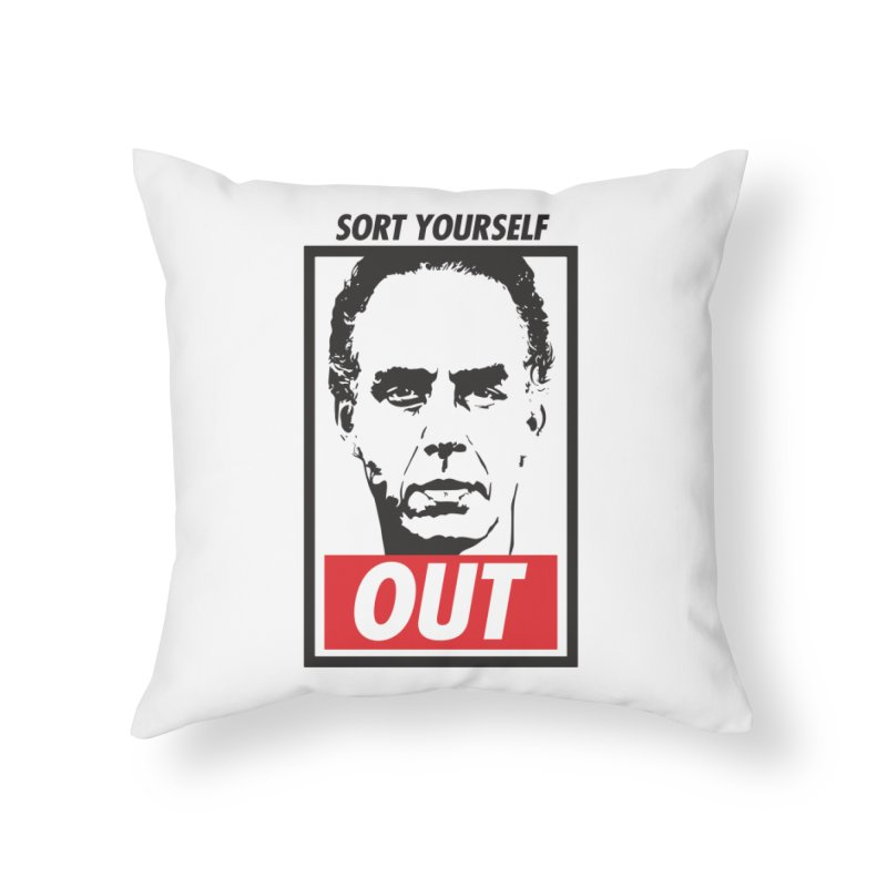 Sort Yourself Out Home Throw Pillow by Shirts of Meaning