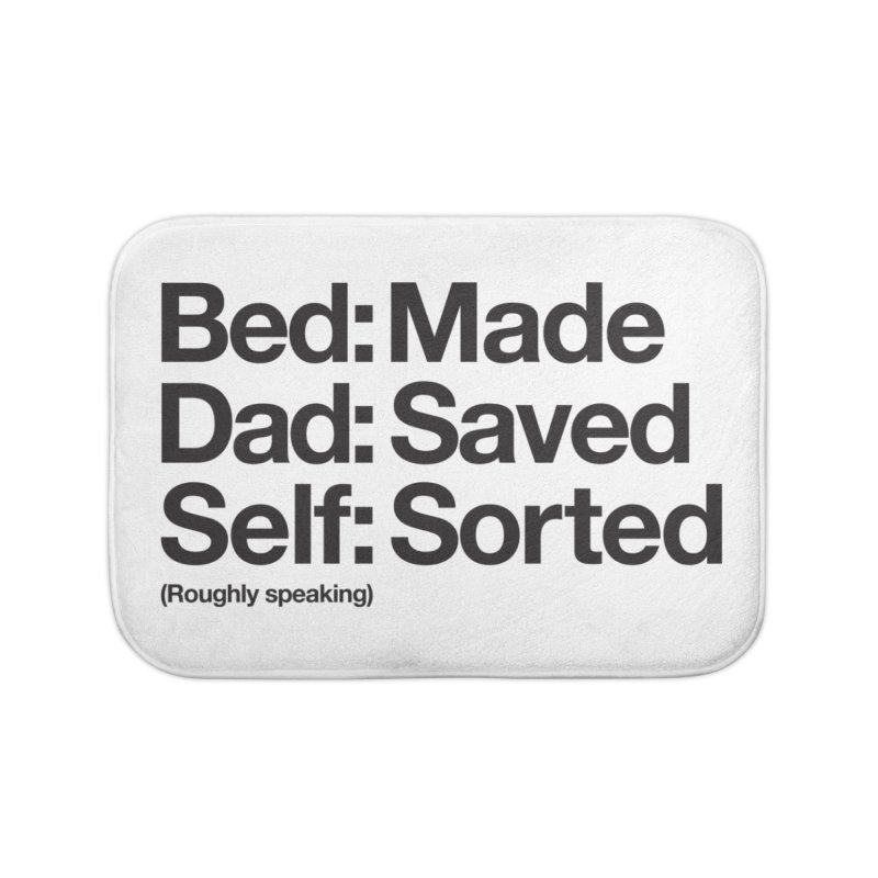 Bucket List Home Bath Mat by Shirts of Meaning