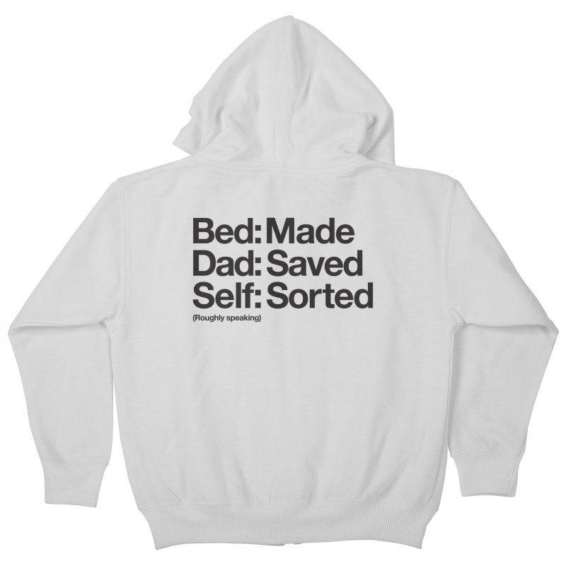 Bucket List Kids Zip-Up Hoody by Shirts of Meaning