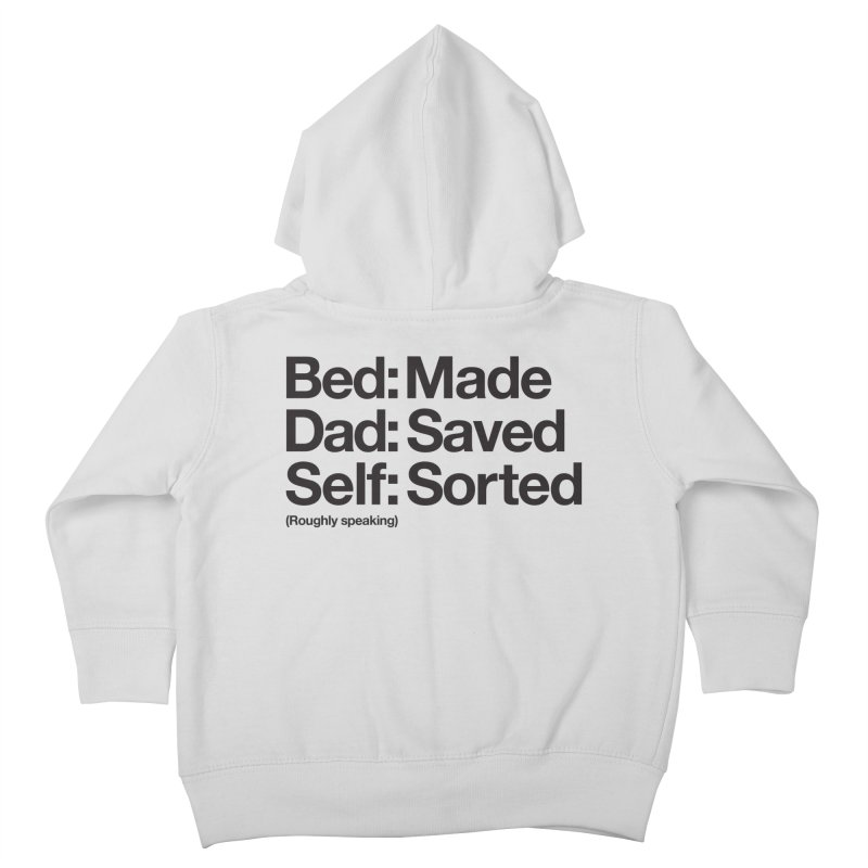 Bucket List Kids Toddler Zip-Up Hoody by Shirts of Meaning