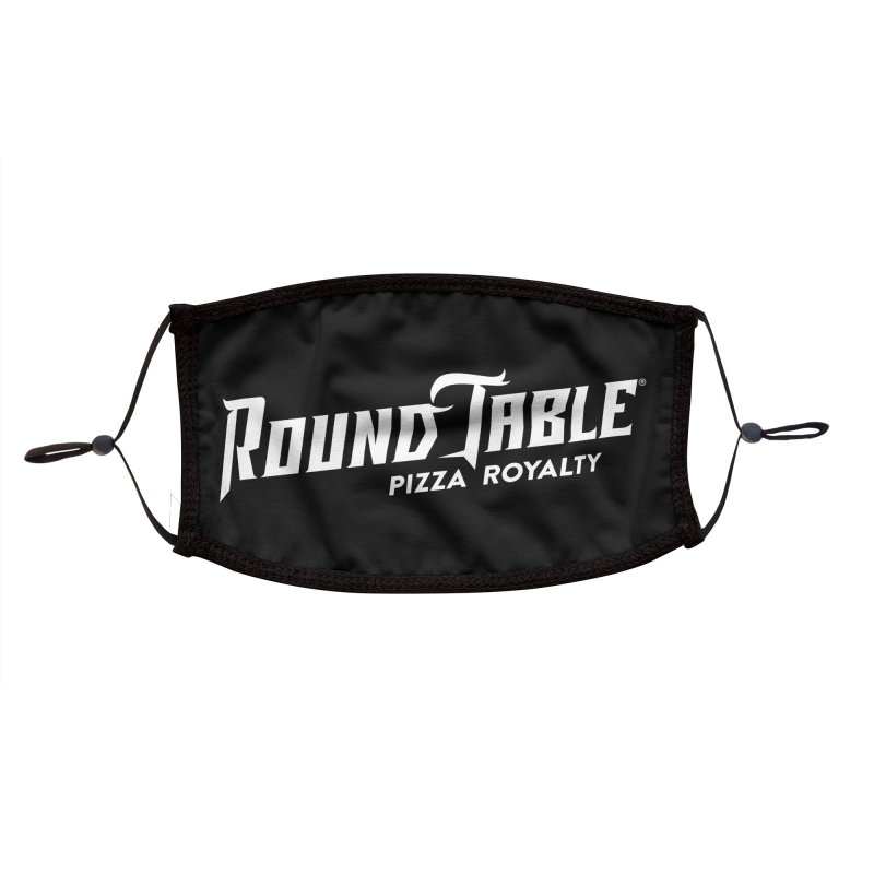 RTP Diagonal Pizza Royalty WHITE Accessories Face Mask by Round Table Pizza