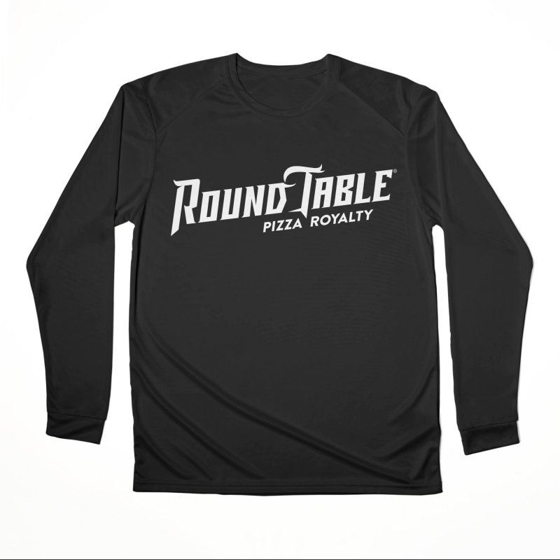 RTP Diagonal Pizza Royalty WHITE Men's Longsleeve T-Shirt by Round Table Pizza
