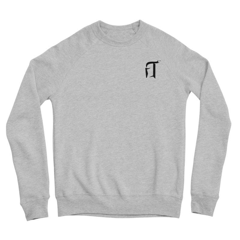 RTP Knight Icon BLACK Men's Sweatshirt by Round Table Pizza