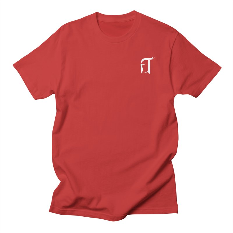 RTP Knight Icon WHITE Men's T-Shirt by Round Table Pizza