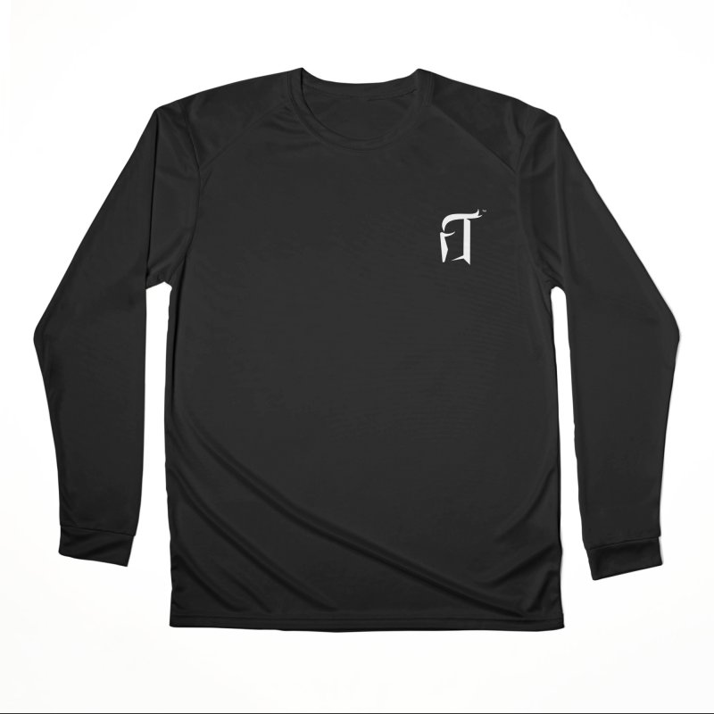 RTP Knight Icon WHITE Men's Longsleeve T-Shirt by Round Table Pizza