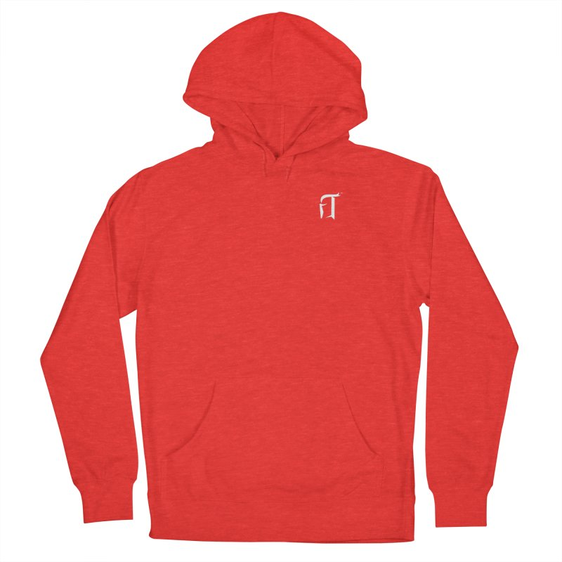 RTP Knight Icon WHITE Men's Pullover Hoody by Round Table Pizza