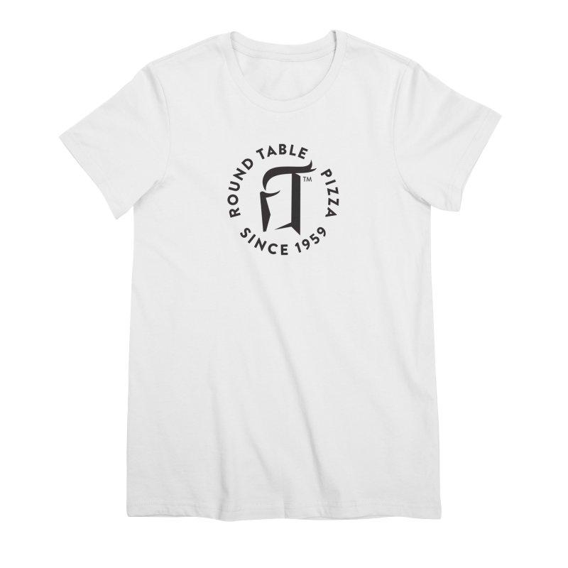 RTP Round Logo Black Women's T-Shirt by Round Table Pizza
