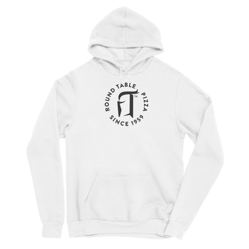 RTP Round Logo Black Women's Pullover Hoody by Round Table Pizza