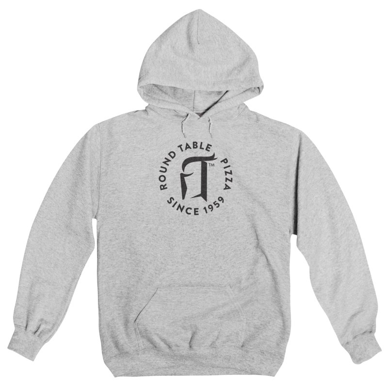 RTP Round Logo Black Men's Pullover Hoody by Round Table Pizza