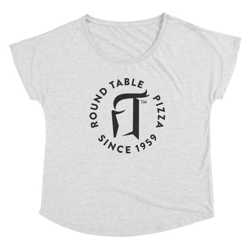 RTP Round Logo Black Women's Scoop Neck by Round Table Pizza