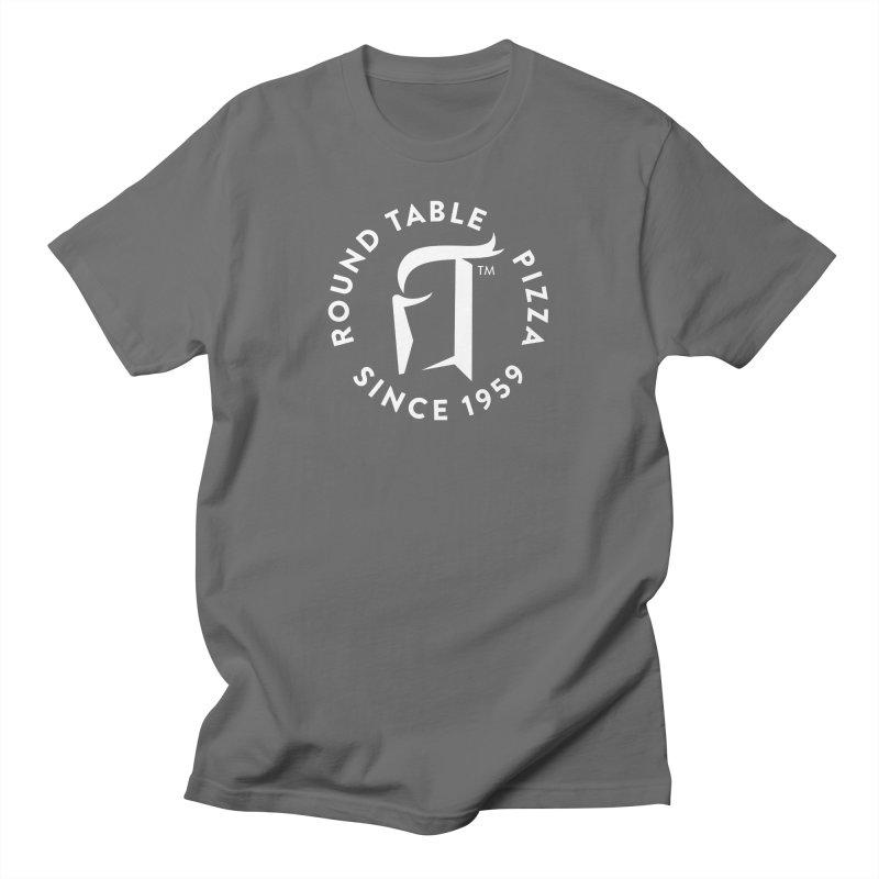 RTP Round Logo WHITE Women's T-Shirt by Round Table Pizza