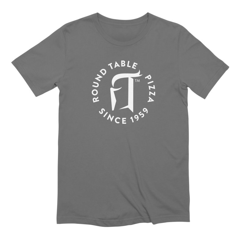 RTP Round Logo WHITE Men's T-Shirt by Round Table Pizza