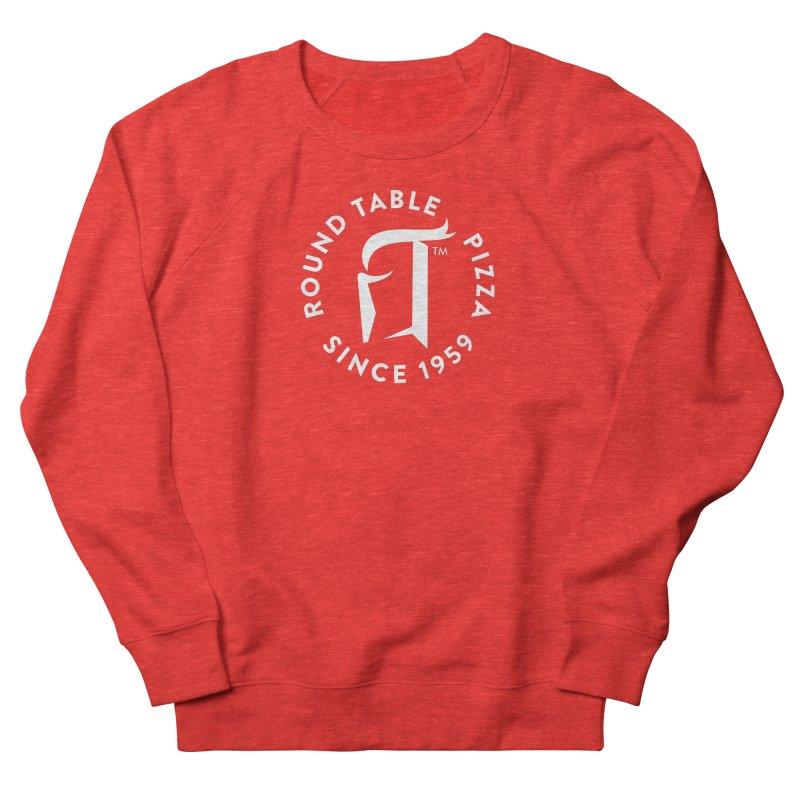 RTP Round Logo WHITE Women's Sweatshirt by Round Table Pizza
