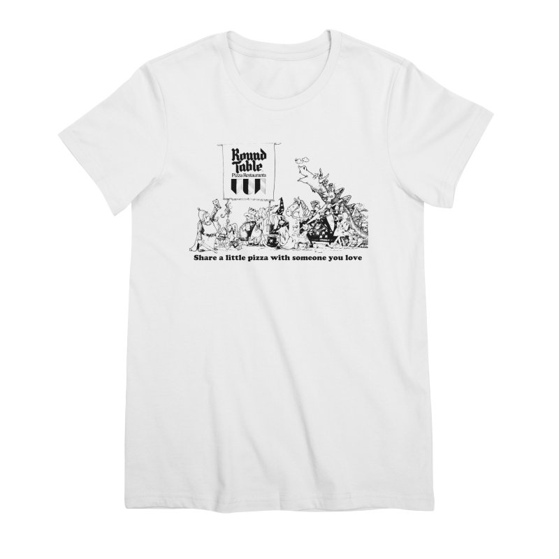 Share a Little Pizza Women's T-Shirt by Round Table Pizza