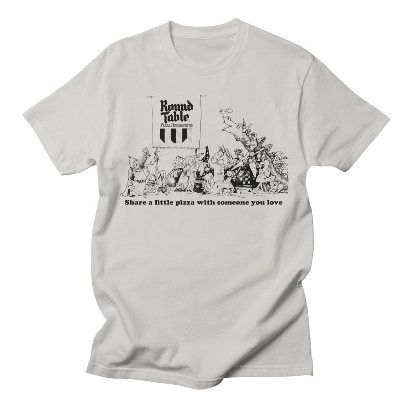 Share a Little Pizza Men's T-Shirt by Round Table Pizza