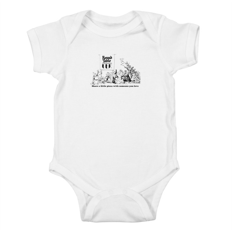 Share a Little Pizza Kids Baby Bodysuit by Round Table Pizza
