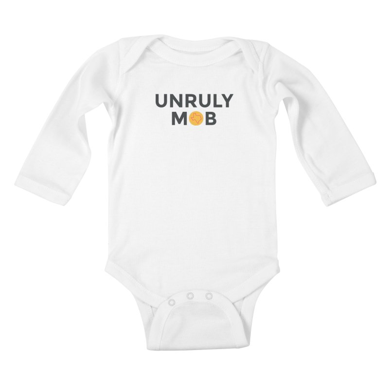 The Unruly Mob, The Rabble Podcast Kids Baby Longsleeve Bodysuit by Rouser