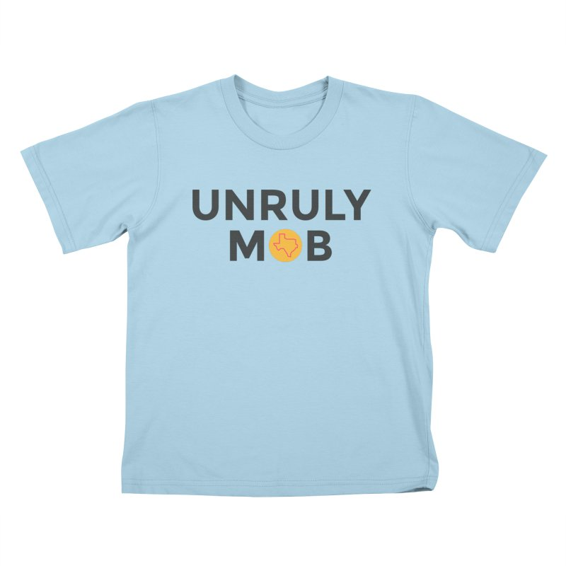 The Unruly Mob, The Rabble Podcast Kids T-Shirt by Rouser