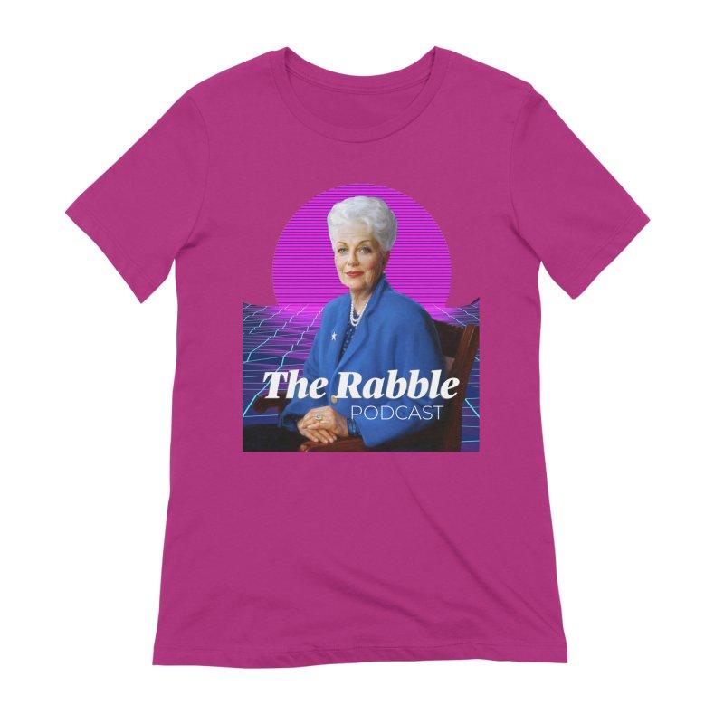 Ann Richards Pink Sun, The Rabble Podcast Women's T-Shirt by Rouser