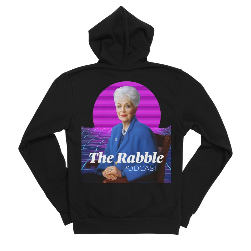 Ann Richards Pink Sun, The Rabble Podcast Women's Sponge Fleece Zip-Up Hoody by Rouser