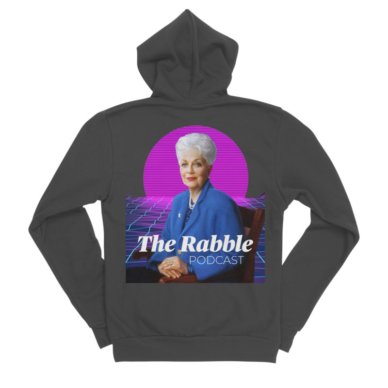 Ann Richards Pink Sun, The Rabble Podcast Men's Sponge Fleece Zip-Up Hoody by Rouser