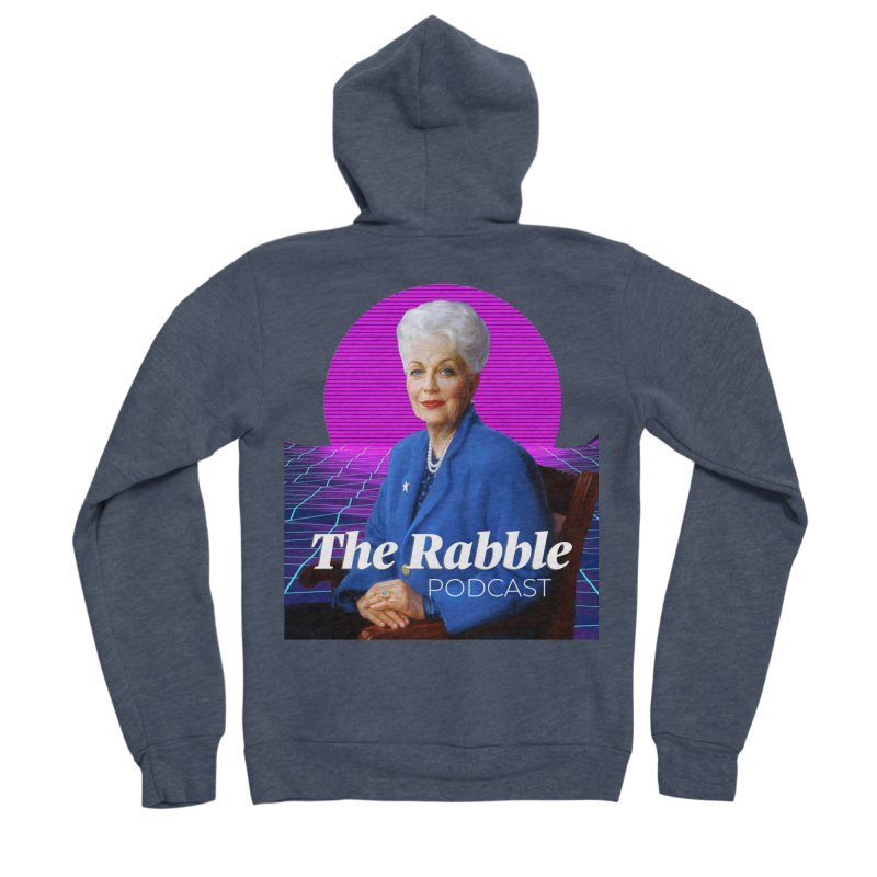 Ann Richards Pink Sun, The Rabble Podcast Women's Zip-Up Hoody by Rouser