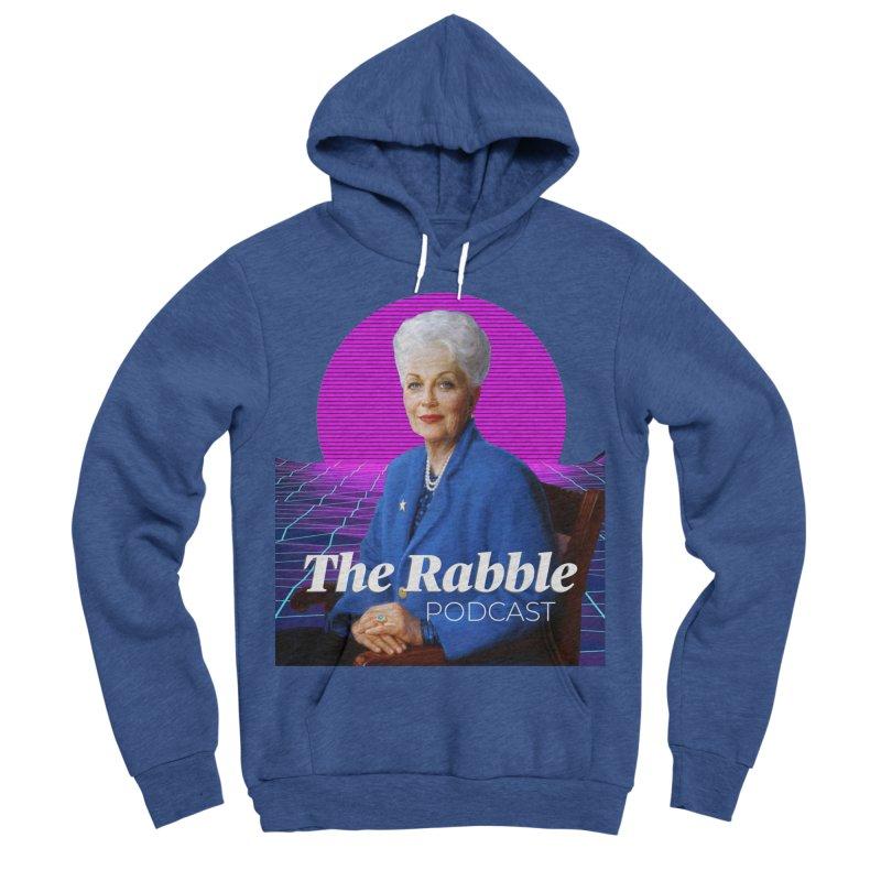 Ann Richards Pink Sun, The Rabble Podcast Men's Sponge Fleece Pullover Hoody by Rouser