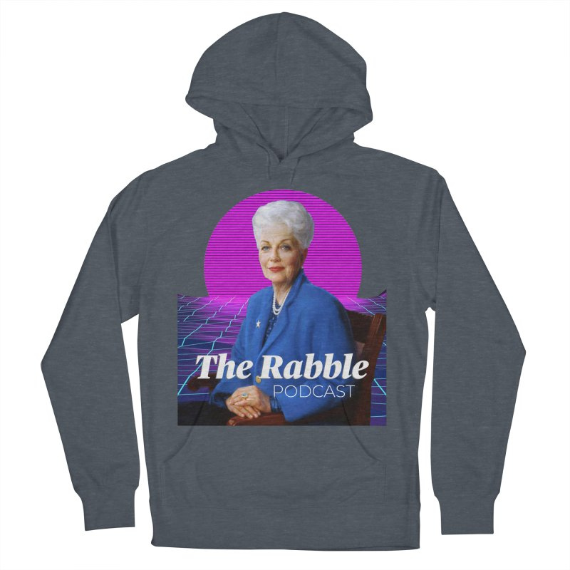 Ann Richards Pink Sun, The Rabble Podcast Men's French Terry Pullover Hoody by Rouser