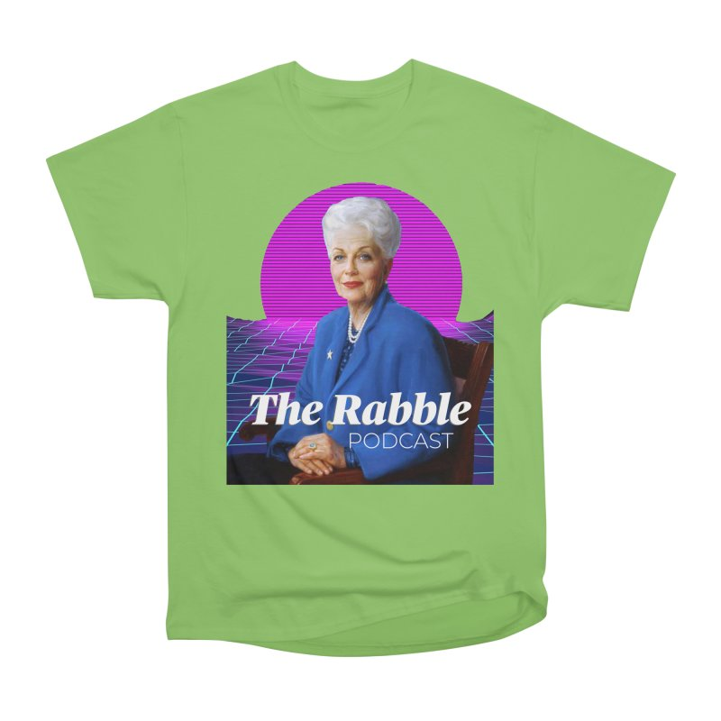 Ann Richards Pink Sun, The Rabble Podcast Men's Heavyweight T-Shirt by Rouser