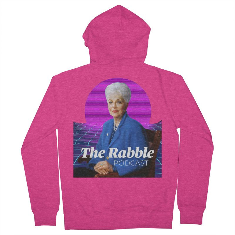Ann Richards Pink Sun, The Rabble Podcast Women's French Terry Zip-Up Hoody by Rouser