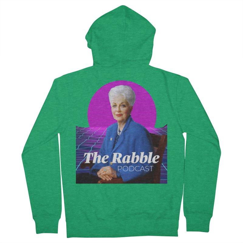 Ann Richards Pink Sun, The Rabble Podcast Men's Zip-Up Hoody by Rouser