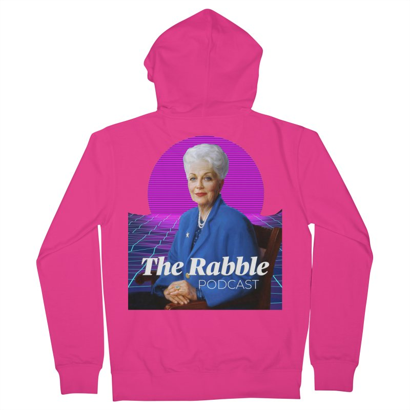 Ann Richards Pink Sun, The Rabble Podcast Men's French Terry Zip-Up Hoody by Rouser