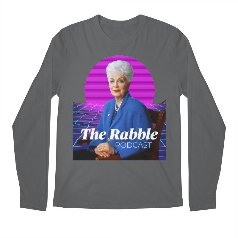 Ann Richards Pink Sun, The Rabble Podcast Men's Longsleeve T-Shirt by Rouser