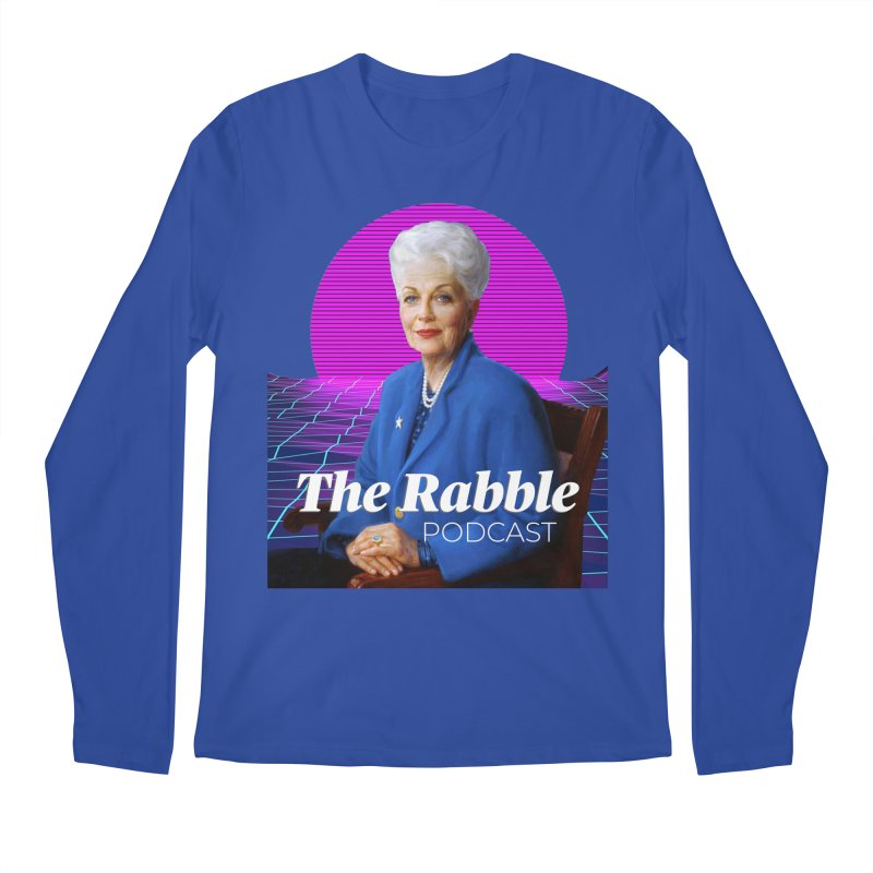Ann Richards Pink Sun, The Rabble Podcast Men's Regular Longsleeve T-Shirt by Rouser