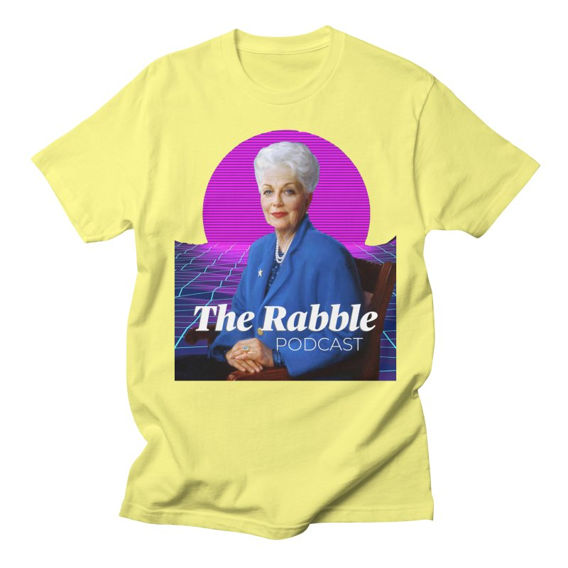 Ann Richards Pink Sun, The Rabble Podcast Men's Regular T-Shirt by Rouser