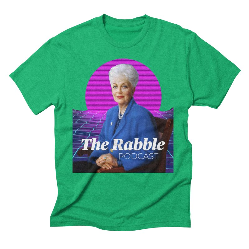 Ann Richards Pink Sun, The Rabble Podcast Men's Triblend T-Shirt by Rouser
