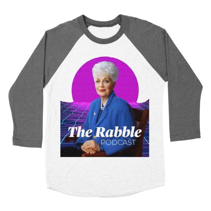 Ann Richards Pink Sun, The Rabble Podcast Women's Baseball Triblend Longsleeve T-Shirt by Rouser