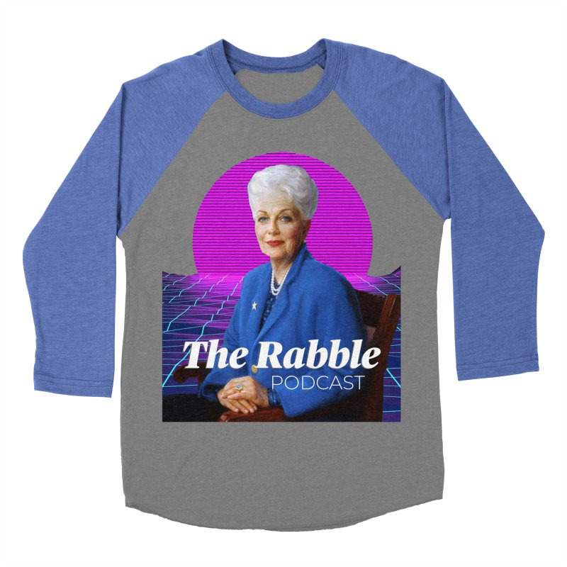 Ann Richards Pink Sun, The Rabble Podcast Men's Baseball Triblend Longsleeve T-Shirt by Rouser