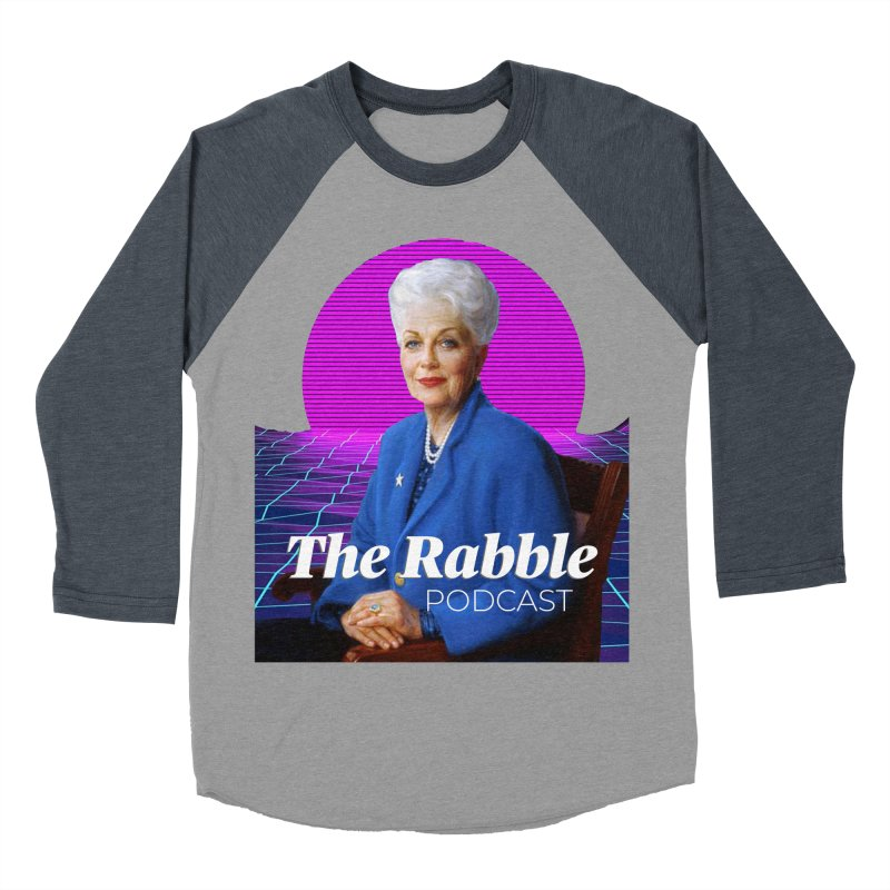 Ann Richards Pink Sun, The Rabble Podcast Men's Baseball Triblend Longsleeve T-Shirt by Rouser