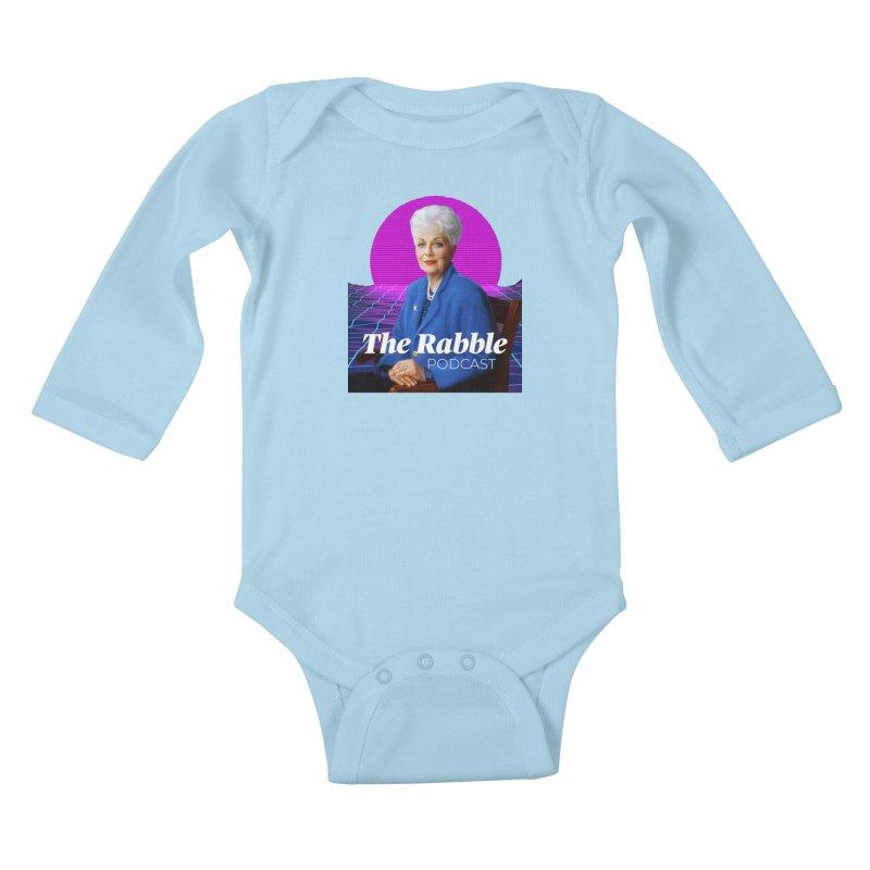Ann Richards Pink Sun, The Rabble Podcast Kids Baby Longsleeve Bodysuit by Rouser