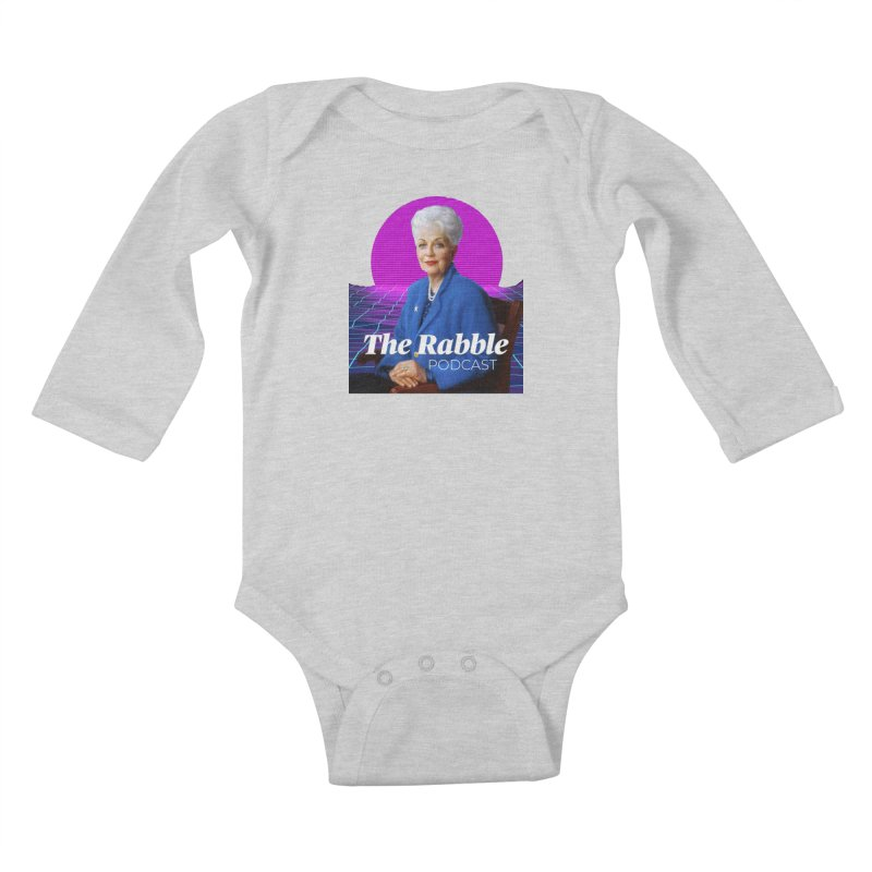 Ann Richards Pink Sun, The Rabble Podcast Kids Baby Longsleeve Bodysuit by Rouser