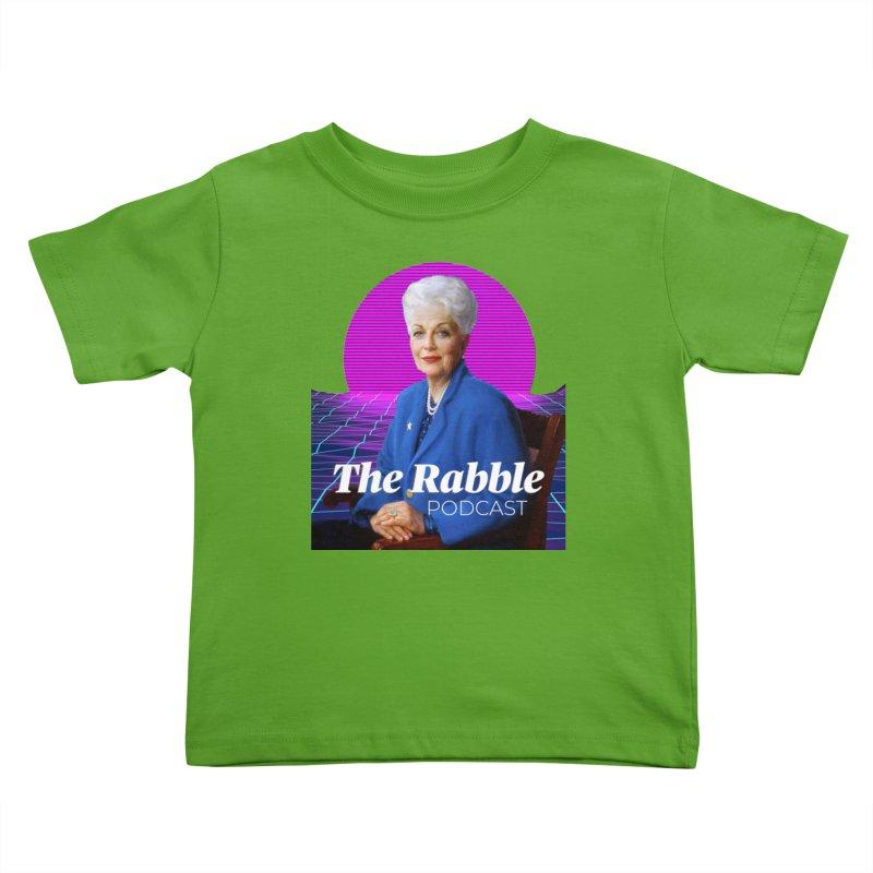 Ann Richards Pink Sun, The Rabble Podcast Kids Toddler T-Shirt by Rouser