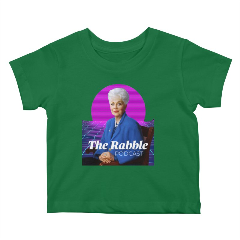 Ann Richards Pink Sun, The Rabble Podcast Kids Baby T-Shirt by Rouser